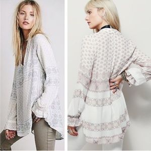 Free People Changing Times Floral Tunic